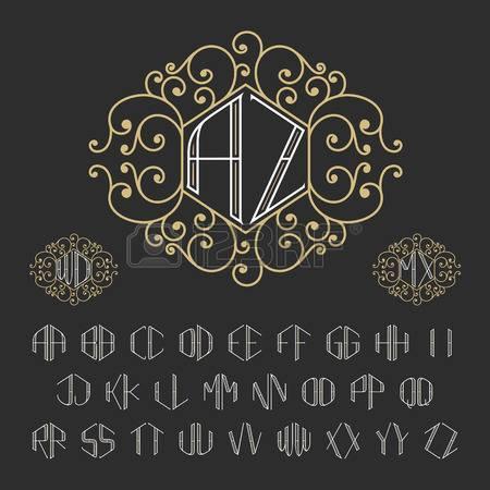 450x450 Two Letters Monogram Template Luxury Vector Set Stylish Monogram