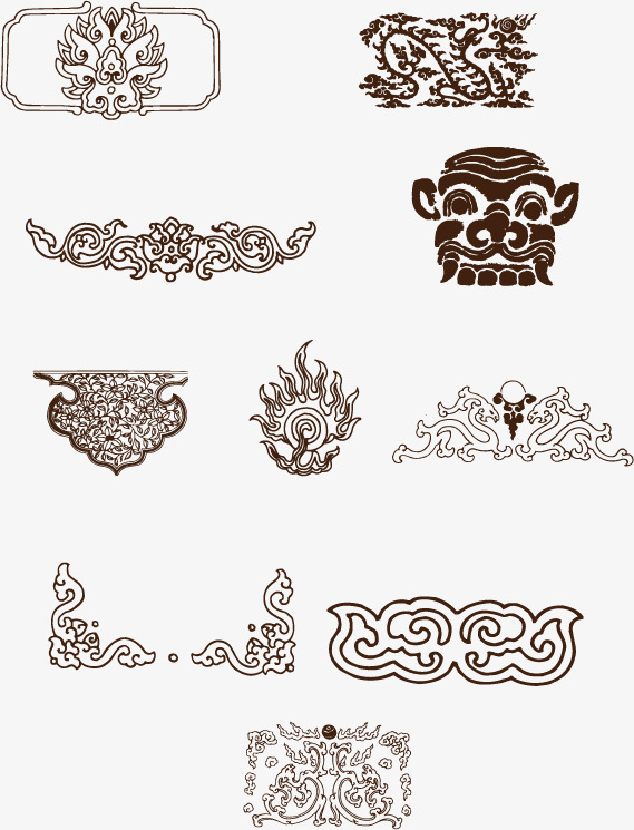 569x745 Vector Gray Pattern Monogram, Vector, Pattern, Gray Png And Vector