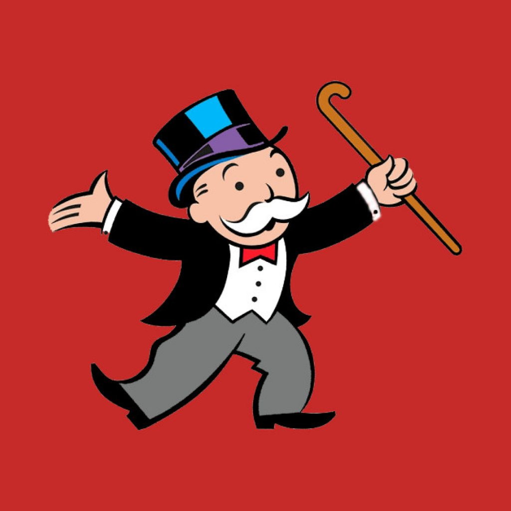 It's just a graphic of Monster Monopoly Man Drawing