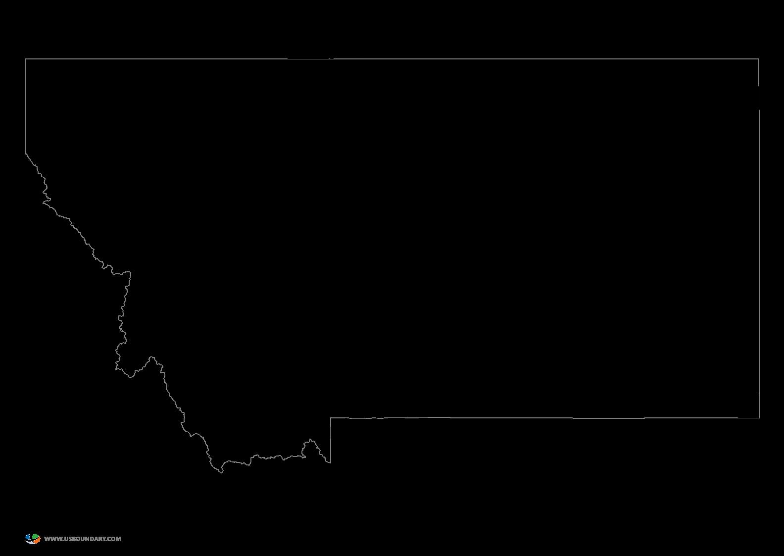 Montana Outline Vector