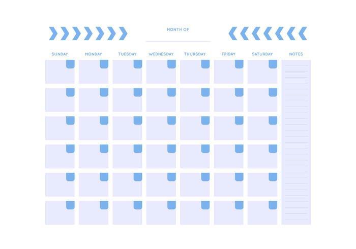 700x490 Free Unique Monthly Calendar Vectors