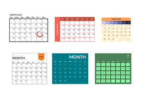 286x200 Monthly Calendar Free Vector Art