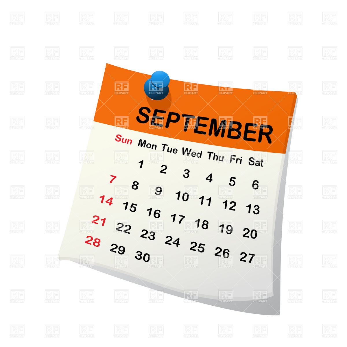 1200x1200 Monthly Calendar Clipart