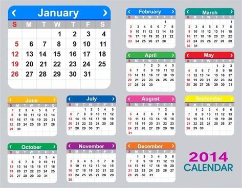 473x368 Vector Monthly Calendar Planner 2017 Free Vector Download (1,814