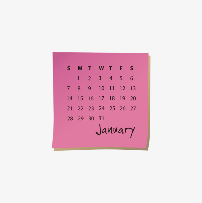 650x651 2018 Red Monthly Calendar, Calendar Vector, Gules, January Png And