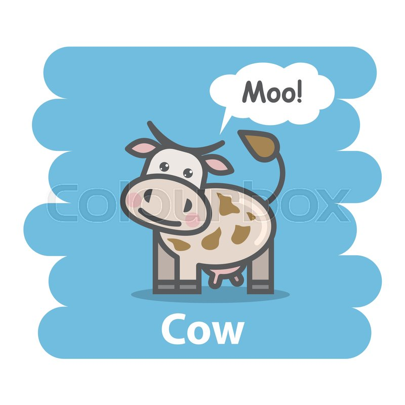 800x800 Cow Vector Illustration On Isolated Background.cute Cartoon Cow