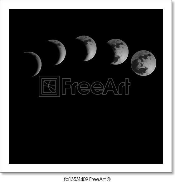 561x581 Free Art Print Of Moon Phases. Moon Phases. Vector Illustration