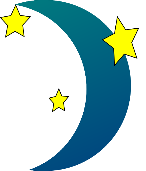 Moon Star Vector