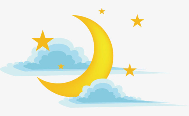 650x400 Vector Moon Star, Moon Vector, Star Vector, Moon Clipart Png And
