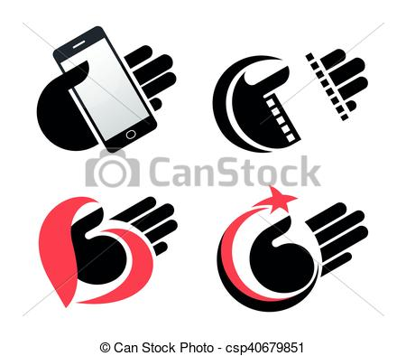 450x394 Concept Objects In Hand Vector Icons Eps10. Concept Objects In