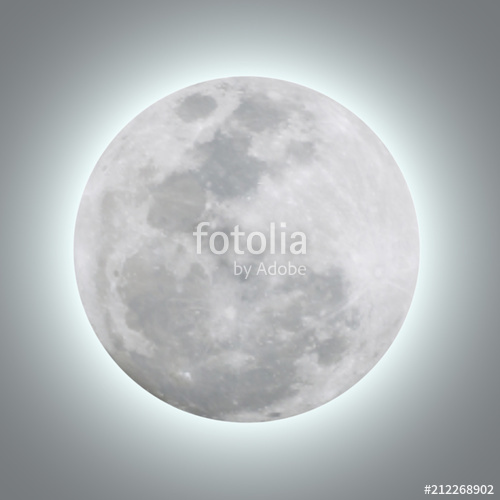 500x500 Detailed Of Realistic Full Moon. Vector Illustration. Stock Image