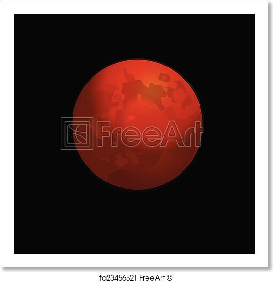 561x581 Free Art Print Of Red Full Moon Vector Logo. Red Full Moon Vector