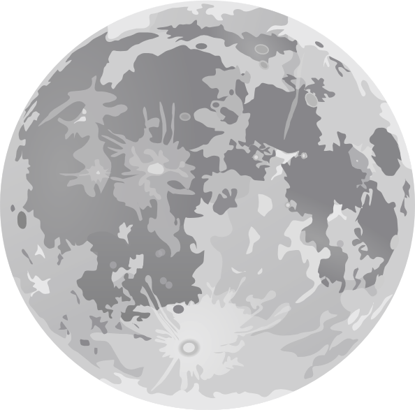 594x587 Full Moon Clip Art Free Vector 4vector