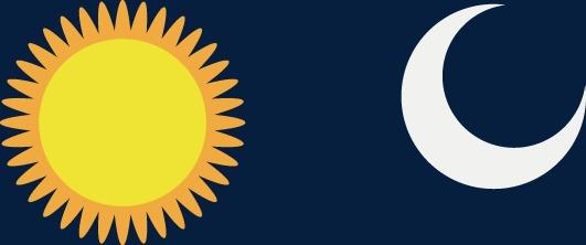 531x222 Vector Sun And Moon, Sun Vector, Moon Vector, Sun Png And Vector