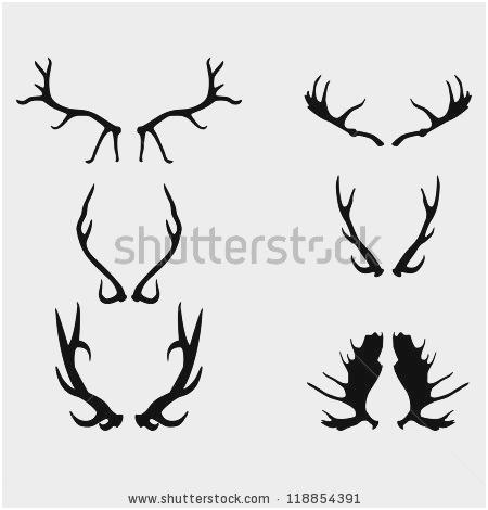 450x470 Deer Antlers Vector Beautiful Black Silhouette Antlers Vector Art