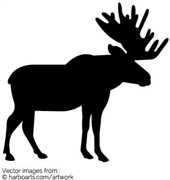 335x355 Download Moose Silhouette Vector Graphic