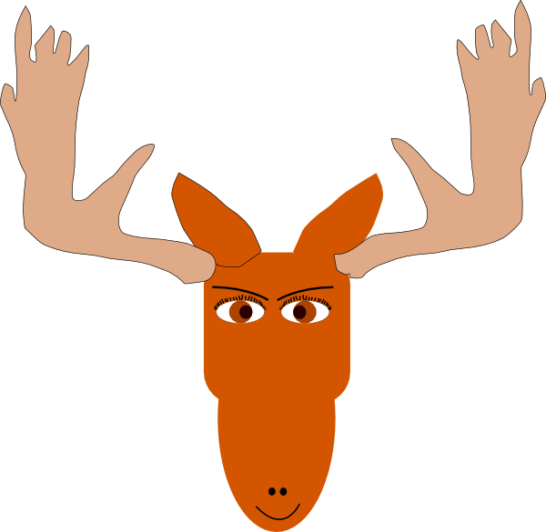 600x585 Moose Antler Clipart
