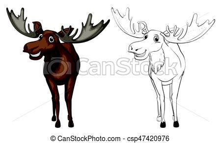 450x293 Animal Outline For Moose Illustration.
