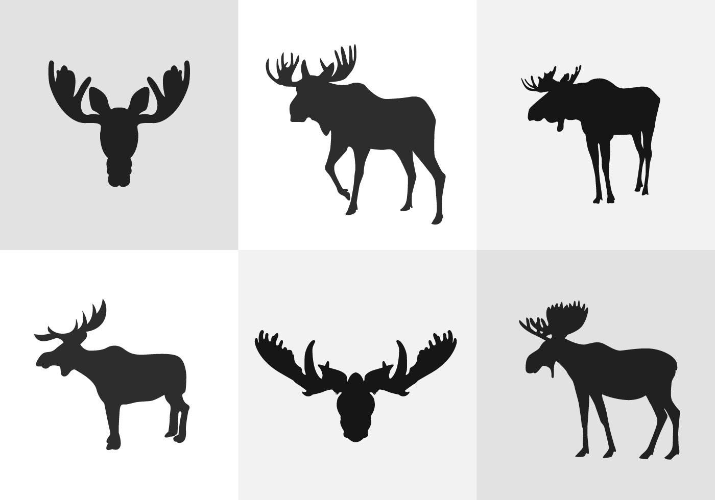 1400x980 Moose Antlers Free Vector Art