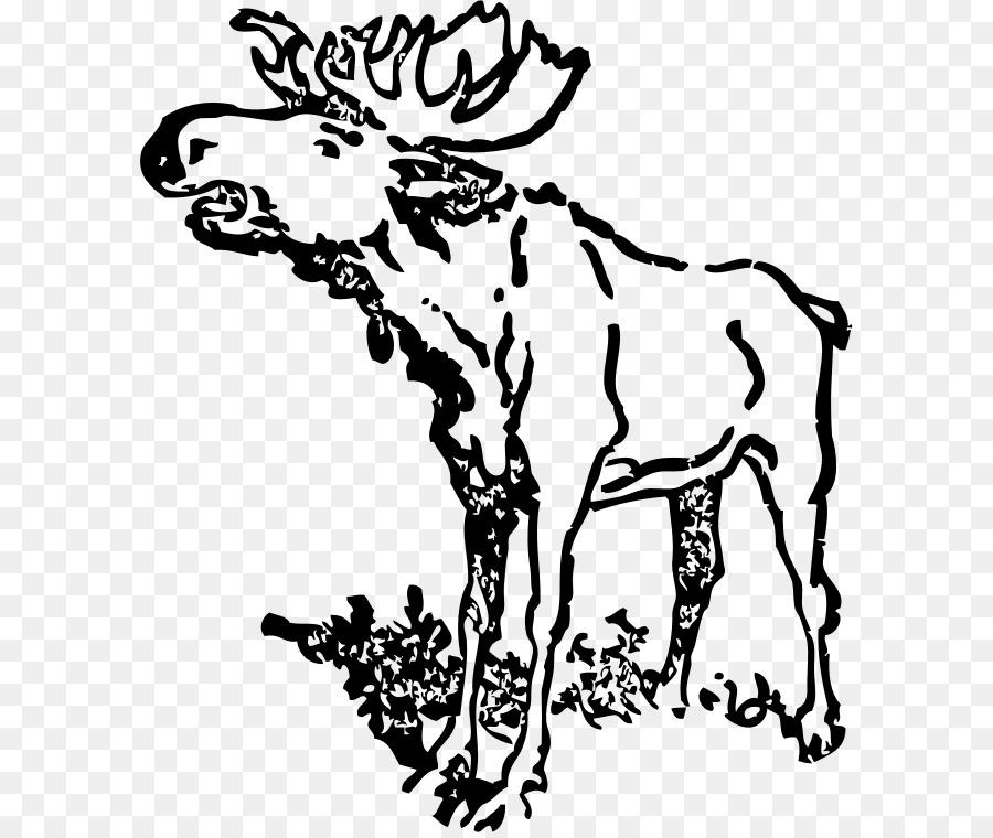 900x760 Moose Clip Art