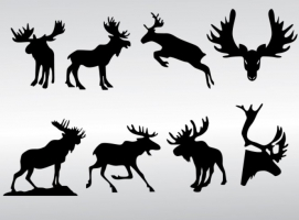271x200 Moose Antler Free Vector Graphic Art Free Download (Found 99 Files