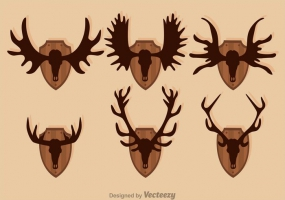 285x200 Moose Antlers Free Vector Graphic Art Free Download (Found 99