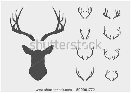 450x320 Reindeer Head Vector Prettier Moose Antlers Stock Royalty Free