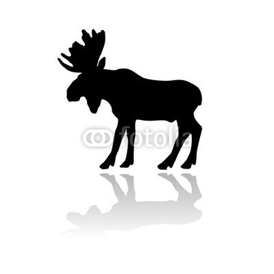 400x400 Moose Silhouette Moose Vector Silhouette By Kniveset, Royalty