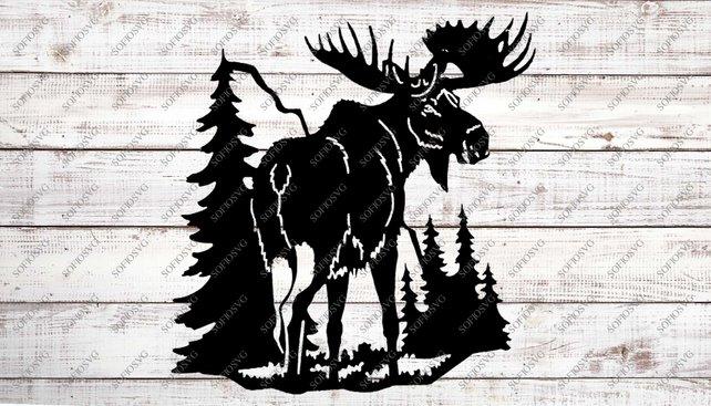 642x367 Moose Svg Files Moose Original Design Moose Vector Etsy