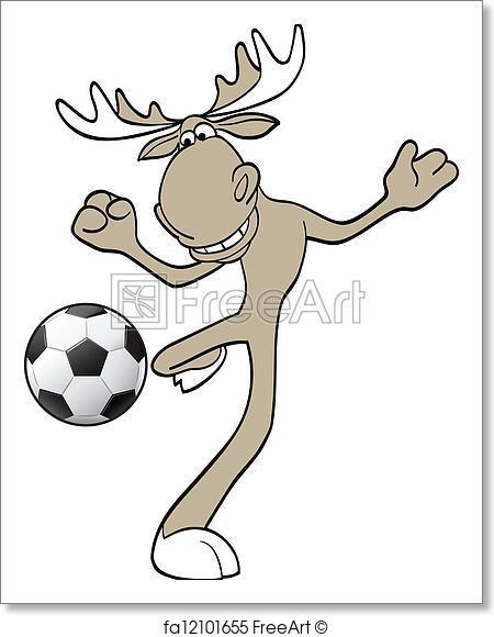 450x580 Free Art Print Of Football Moose. Vector Illustration Of Moose