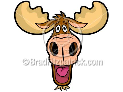 432x324 Cartoon Moose Head Clip Art Moose Head Graphics Clipart Moose