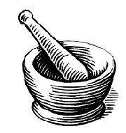 180x191 Mortar And Pestle Clipart ~ Frames ~ Illustrations ~ Hd Images