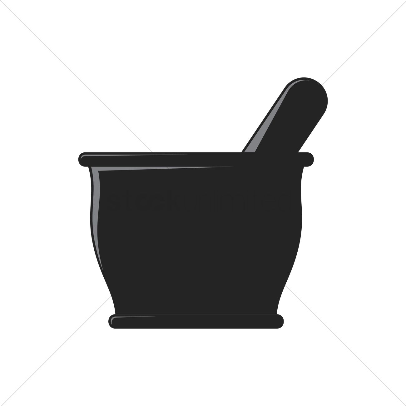 1300x1300 Free Mortar And Pestle Vector Image