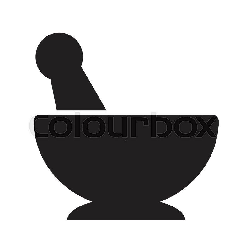 800x800 Mortar Pestle Icon Illustration Design Stock Vector Colourbox