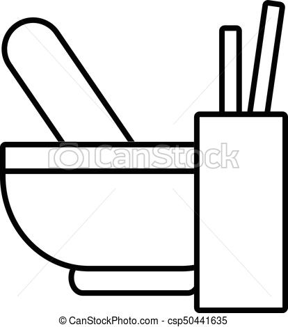 414x470 Mortar With Pestle Icon , Outline Style. Mortar With Pestle Icon
