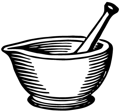 395x361 Free Vector Art Mortar And Pestle Images From Ephemeraphilia
