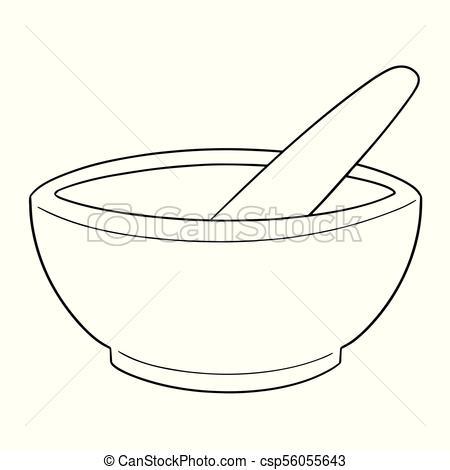 450x470 Vector Set Of Mortar And Pestle.