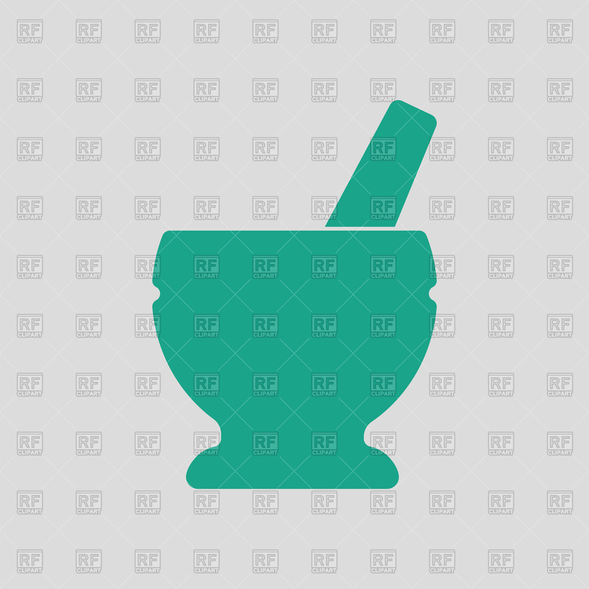 1200x1200 Icon Of Chemistry Mortar With Pestle On Gray Background Vector