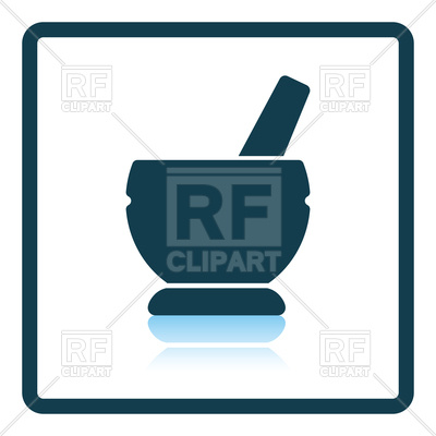400x400 Icon Of Mortar And Pestle Vector Image Vector Artwork Of Objects