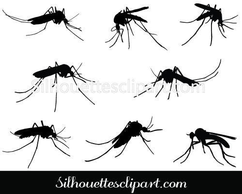 500x400 Mosquito Vector Graphics Download Mosquito Silhouette