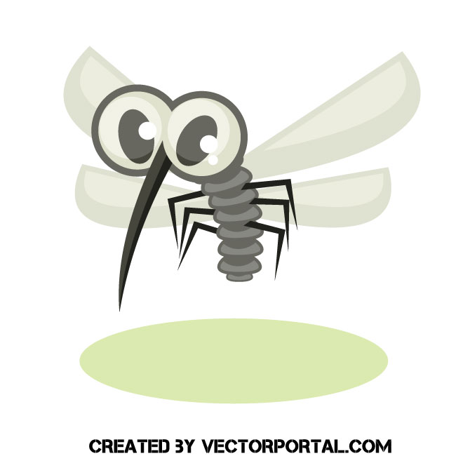 660x660 Mosquito Cartoon Vector Graphic