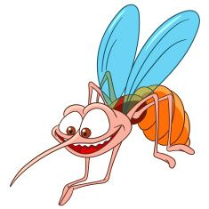 235x235 Cute Cartoon Mosquito Vector Art Illustration Playeras