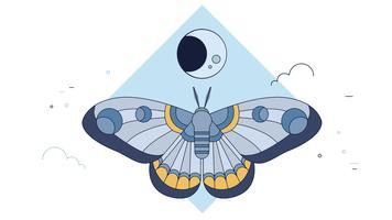 356x200 Moth Free Vector Art