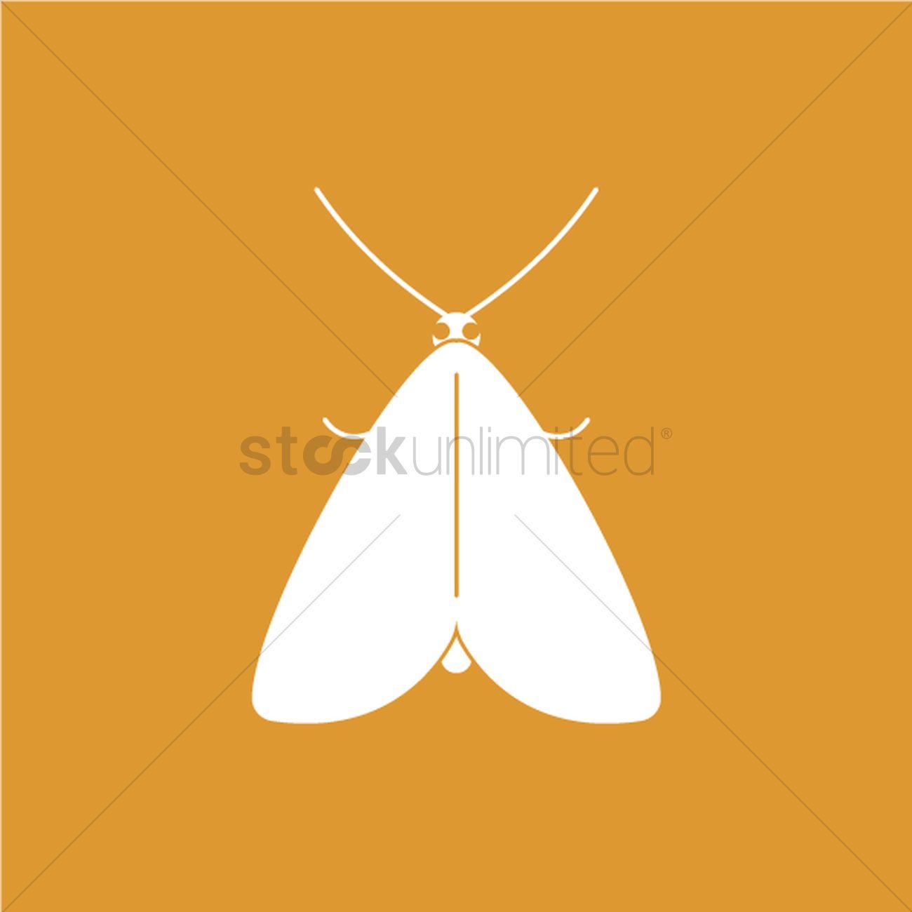 1300x1300 Moth Vector Image