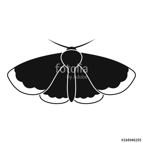 500x500 Moth Icon. Simple Illustration Of Moth Vector Icon For Web Stock