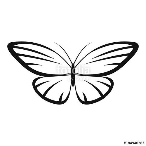 500x500 Decorative Moth Icon. Simple Illustration Of Decorative Moth