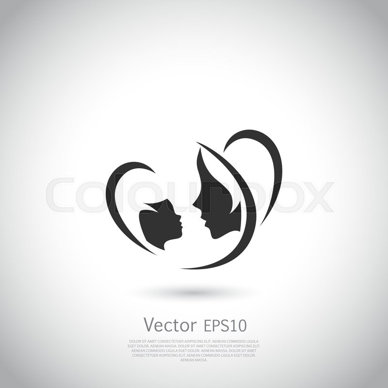 800x800 Logo Mother And Her Baby. Healthcare Or Baby Shop Logo. Template