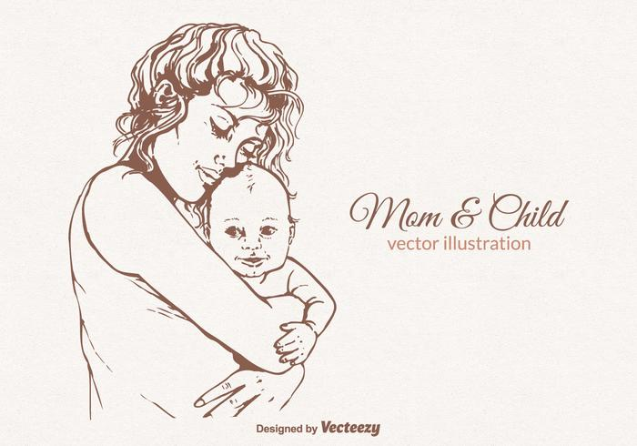 700x490 Mom And Child Vector Illustration