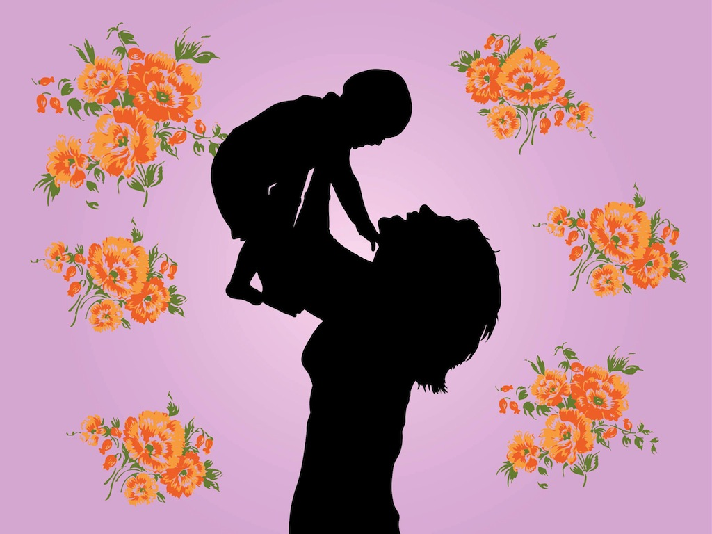 1024x768 Mother And Child Graphics Vector Art Amp Graphics