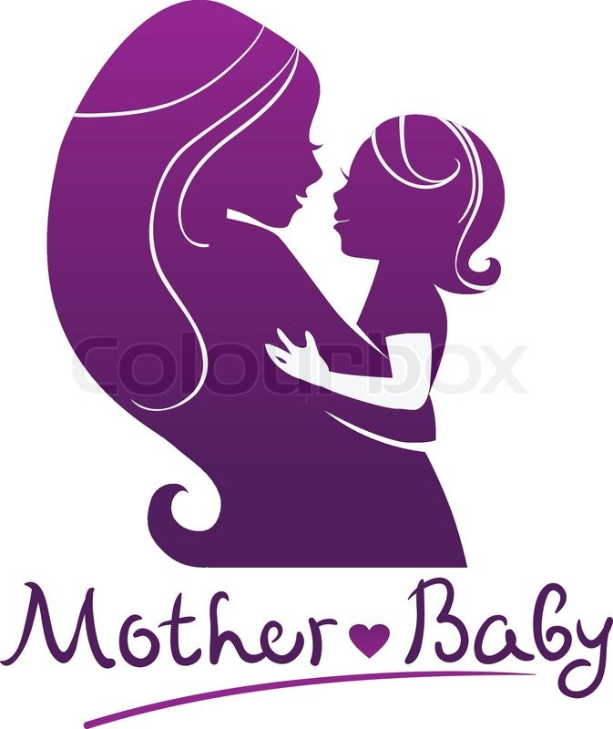 673x800 Mother And Baby Silhouettes Stock Vector Colourbox